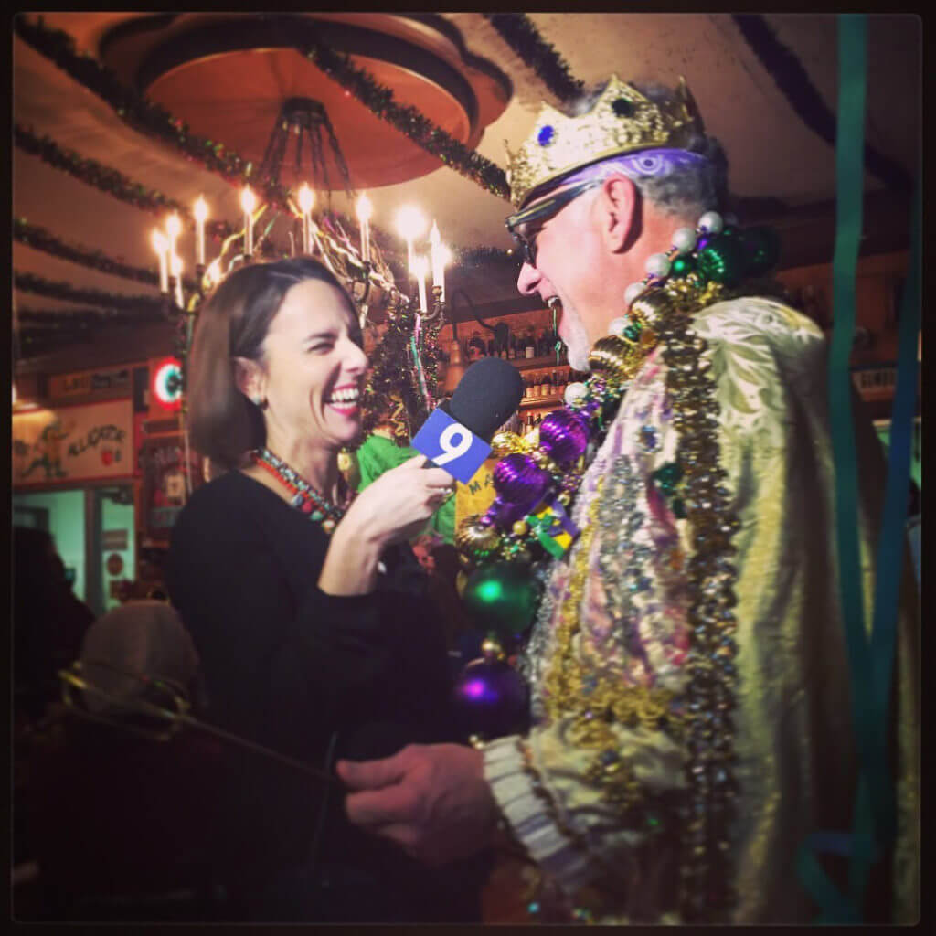 WGN's Ana Belaval enjoys Mardi Gras at Heaven on Seven